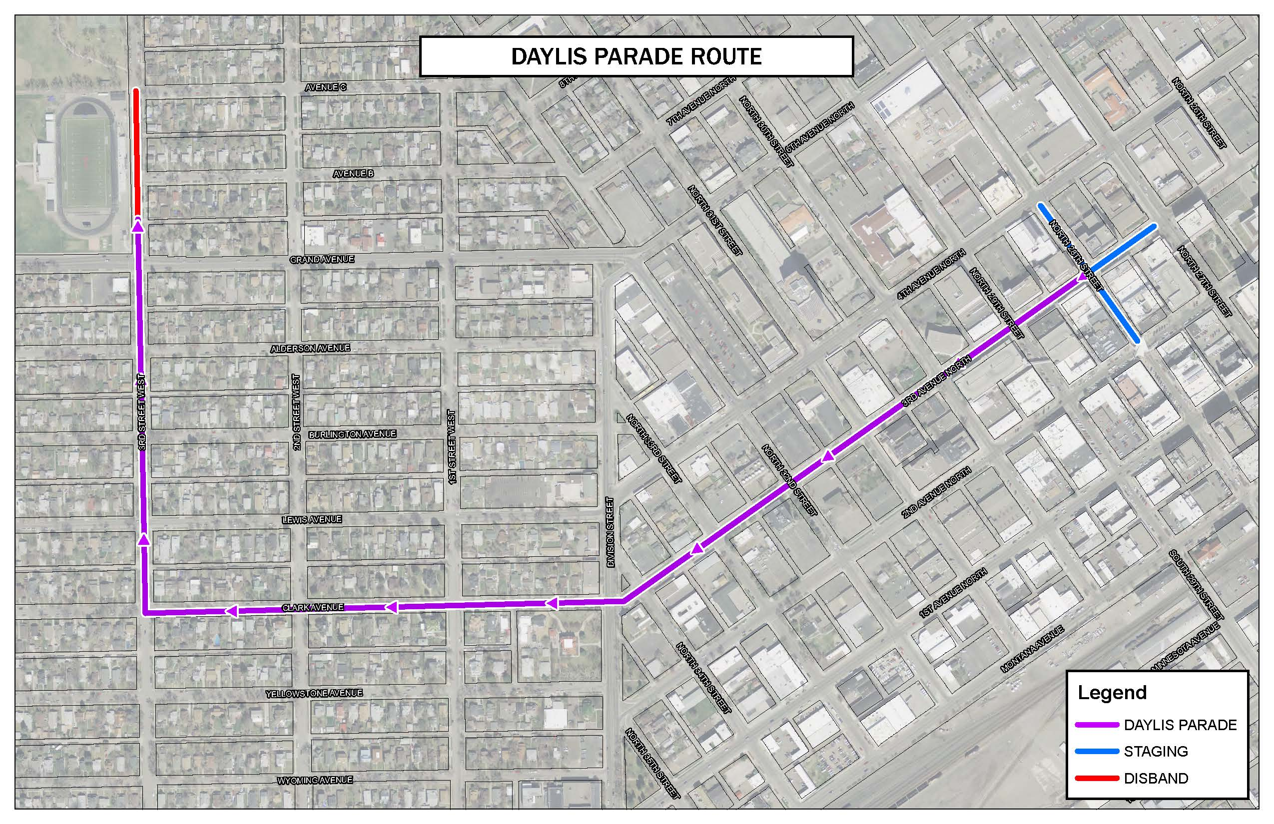 Daylis PARADE ROUTE