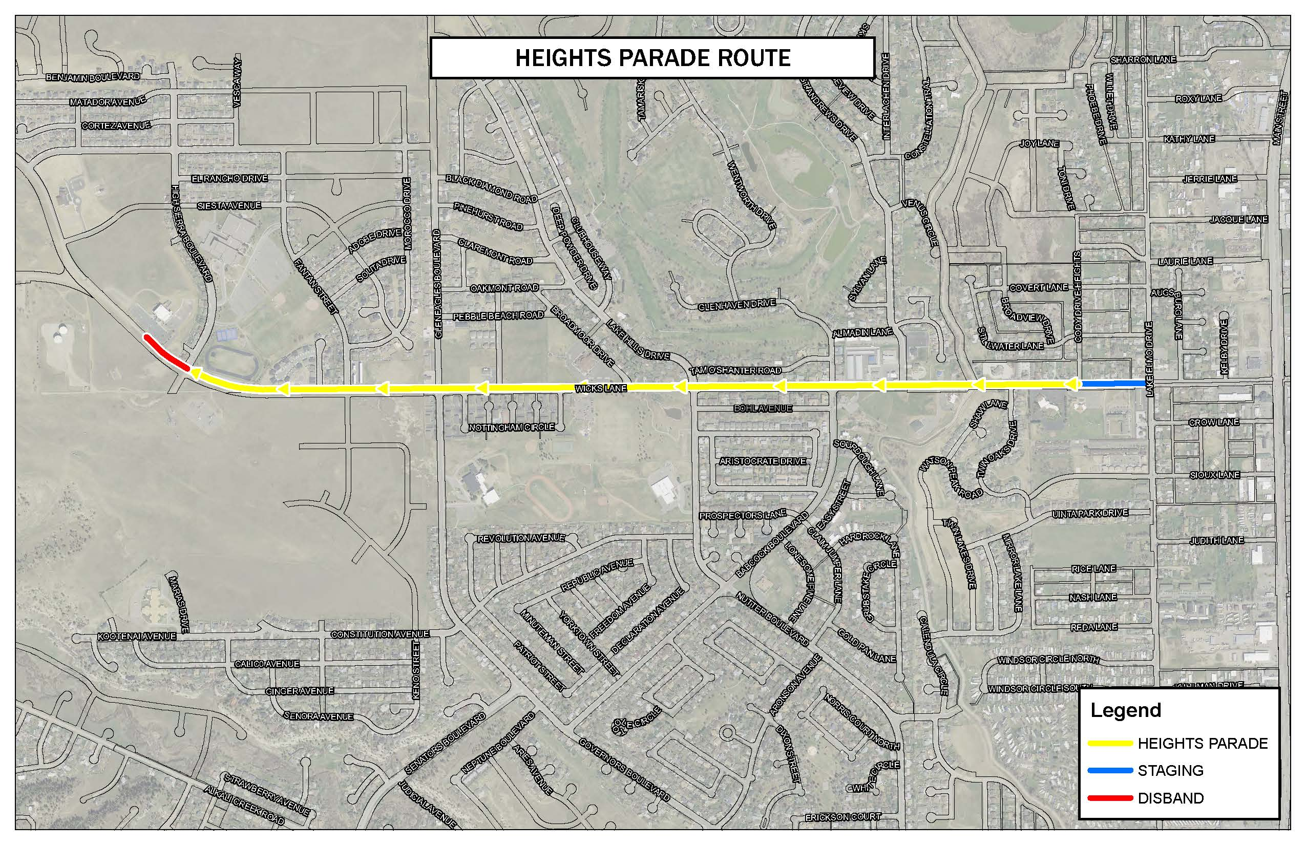 HEIGHTS PARADE ROUTE